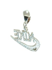 Nike Swoosh charm made of Sterling Silver  The Design ...