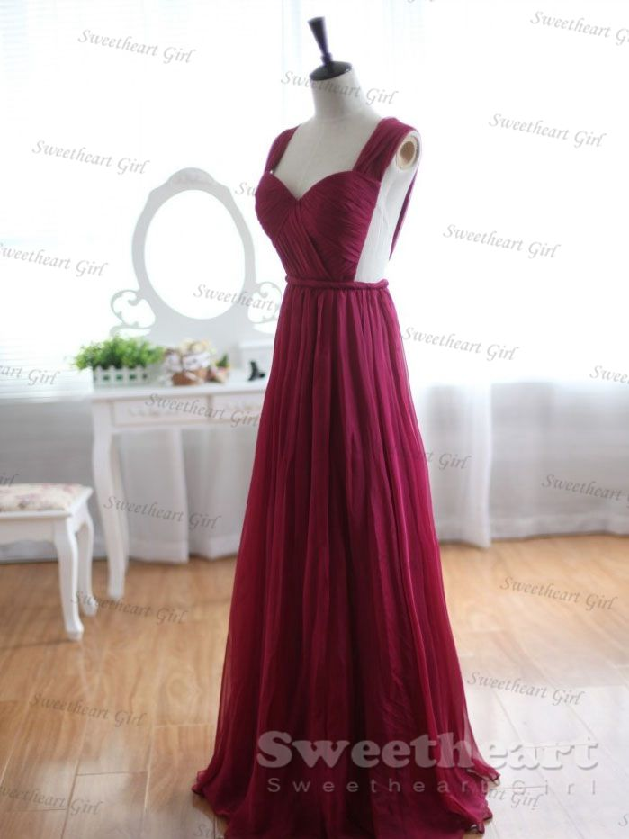 Sweetheart Girl  Custom Made Wine Red Aline Chiffon