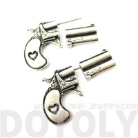 Realistic Guns and Pistols Shaped Fake Gauge Stud Earrings ...