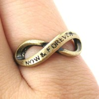 SALE Now and Forever Infinity Loop Ring Bronze Size 6 and