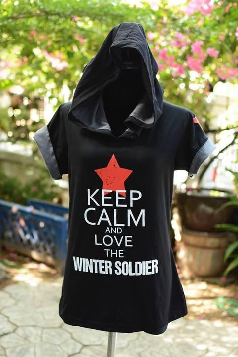 Bucky Barnes black tshirt hoodie keep calm and love the