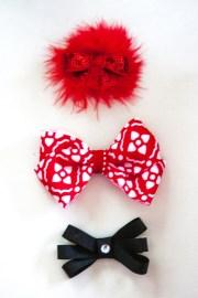 red hair bow set newborn