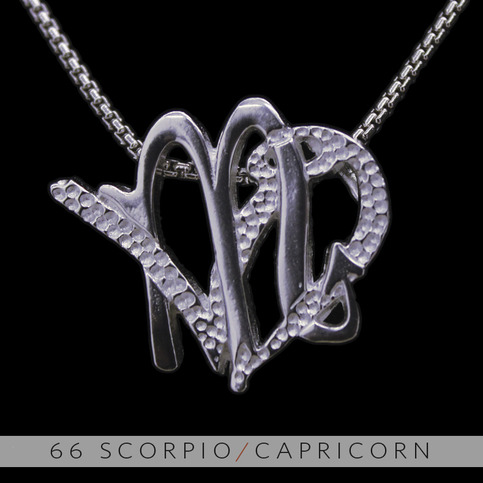 The Scorpio And Capricorn Silver Unity Pendant On Storenvy