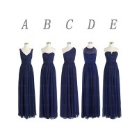 Navy blue bridesmaid dresses, long bridesmaid dresses ...