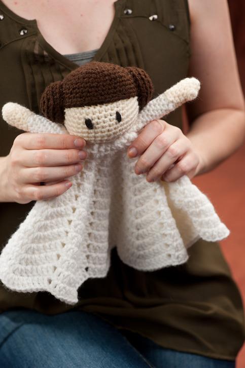 Crochet doll blanket Princess Lovey on Storenvy