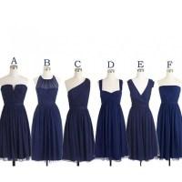 Navy bridesmaid dresses, cheap bridesmaid dresses, chiffon ...