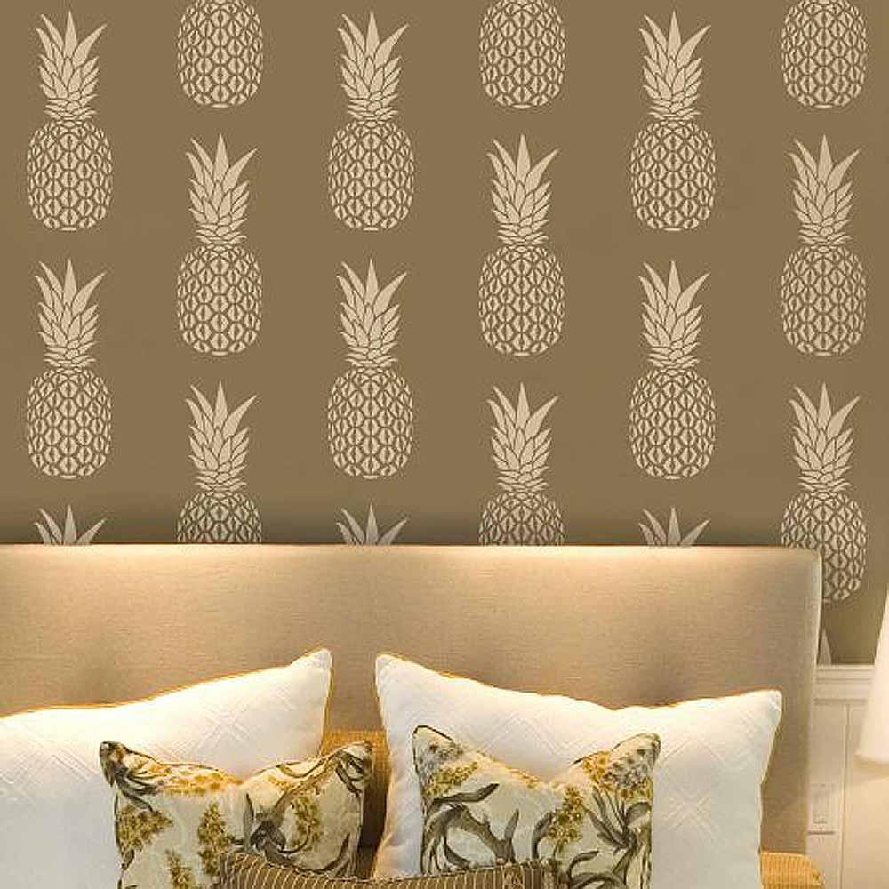 Pineapple Allover Stencil  Diy Home Decor  Stencils For