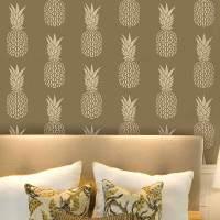 Pineapple Allover Stencil - DIY Home Decor - Stencils for ...