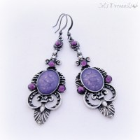 Purple victorian gothic chandelier earrings  celdeconail