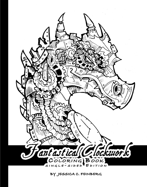 Fantastical Clockwork Coloring Book on Storenvy