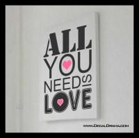 Decal Drama  All You Need Is Love, Beatles lyric Vinyl ...