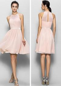 Blush pink bridesmaid dresses, short bridesmaid dresses ...
