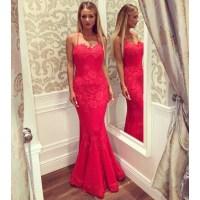 Sexy Spaghetti Straps Prom Dress with Crisscross Back, Hot ...