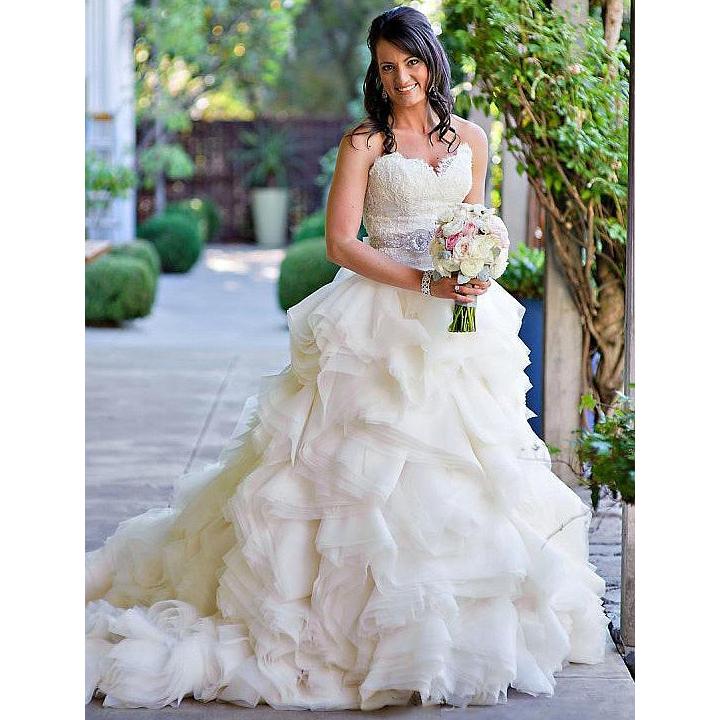 different sweetheart beaded wedding