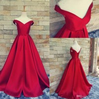 Simple Design Prom Dress,Off-shoulder Prom Dress,Ball Gown ...