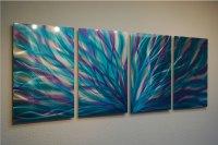 Radiance Blue Purple - Abstract Metal Wall Art ...