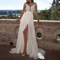 Ivory Prom Dresses, Fabulous A-line Scoop Neck Long Formal ...