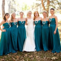 Long bridesmaid dress,sweetheart strapless bridesmaid ...