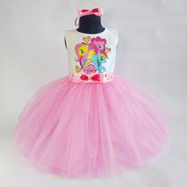 Little Pony Birthday Tutu Dress Outfit With