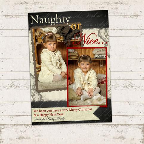 Valerie Pullam Designs Naughty Or Nice Christmas Photo