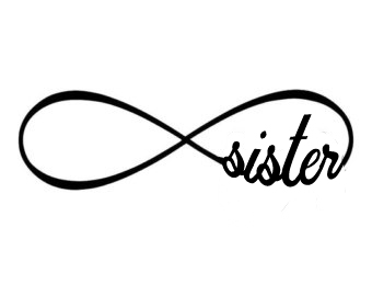 Infinity forever family sister mom dad window decal