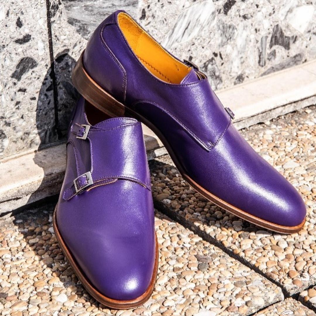 men s handmade purple