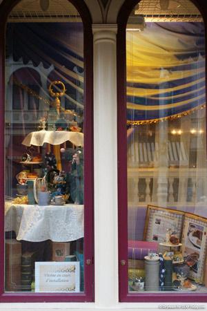 Main Street shop windows