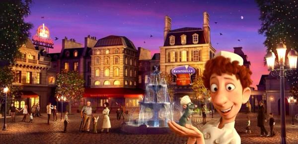 La Place de Rémy Ratatouille ride exterior concept visual Disneyland Paris