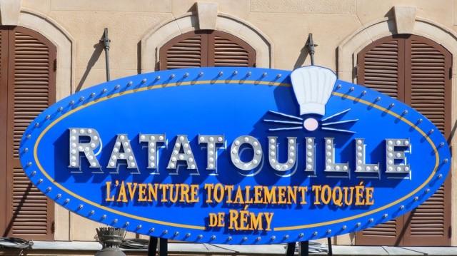 Ratatouille: L'Aventure Totalement Toquée de Rémy entrance marquee Disneyland Paris ©DLPWelcome