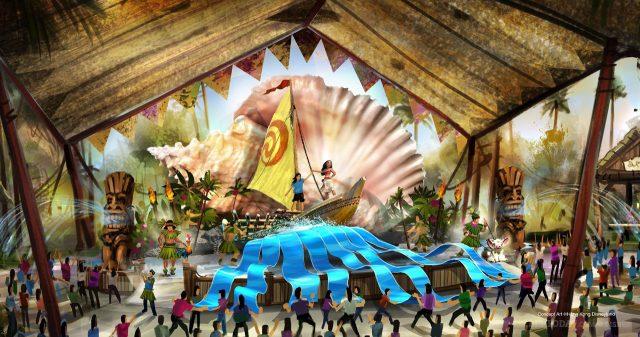 Hong Kong Disneyland multi-year expansion project - Moana's Village Festival - Adventureland Show Place