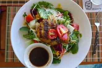 Pantrepant salad at Goldeneye
