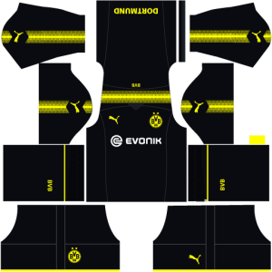 Borussia Dortmund Away Kit Dream League Soccer