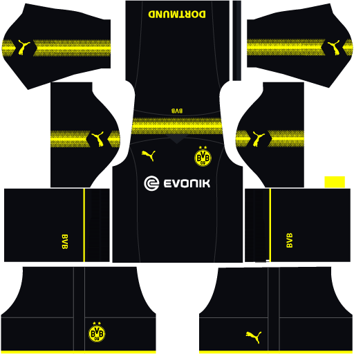 Borussia Dortmund Away Kit Dream League Soccer