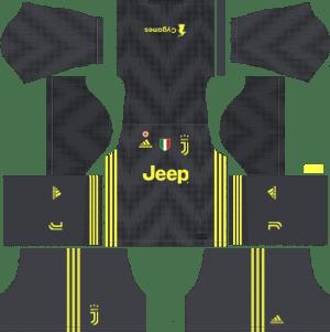 Juventus Third Kits 2018-2019 Dream League Soccer