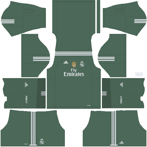 Real Madrid Goalkeeper Home Kit 2017/2018 DLS