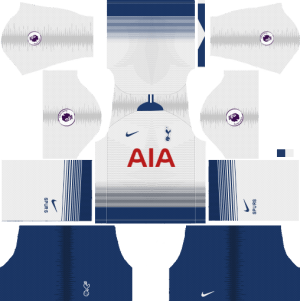 Tottenham Home Kit 2018-2019 Dream League Soccer