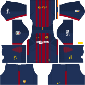 Barcelona Home Kit Dream League Soccer