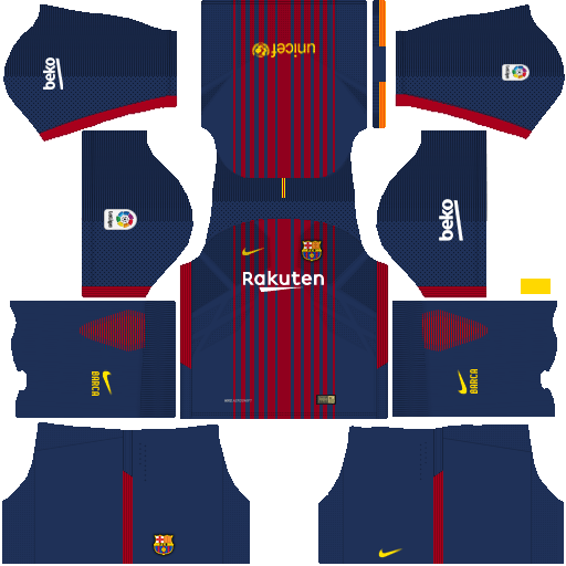 Barcelona Home Kit Dream League Soccer