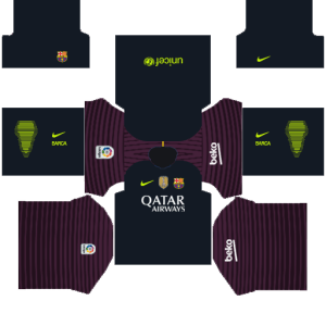a84a2355d6a Barcelona DLS Kits 2018-2019 dream soccer league