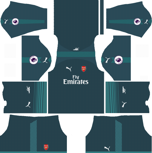 Goalkeeper Home Kit Arsenal Dream League Soccer 2017 - 2018