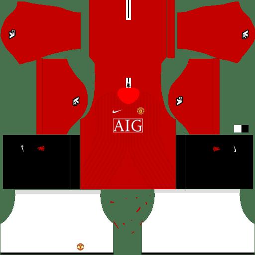 Manchester United Kits 2008-2009