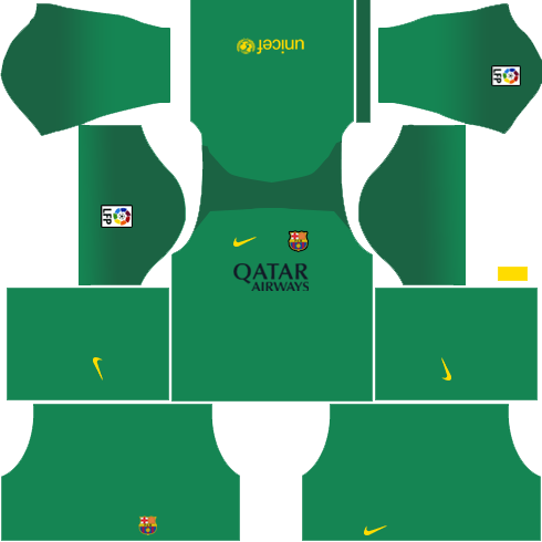 Barcelona Goalkeeper Home Kit 2013-2014