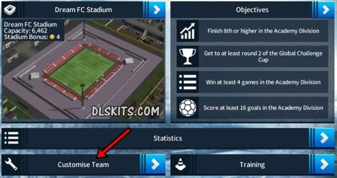 How to Import Dream League Soccer Kits Customize Team