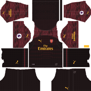 Arsenal 2018-19 Kit Goalkeeper 512x512 Dream League Soccer Kits URL