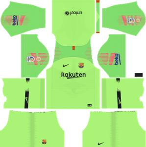 Barcelona Goalkeeper Home Kit 2018-19 Dream League Soccer Kits URL 512x512