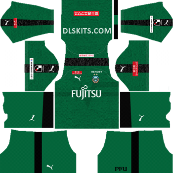 Kawasaki Frontale Goalkeeper Home Kit 2019 - DLS Kits - Dream League Soccer Kits URL 512x512