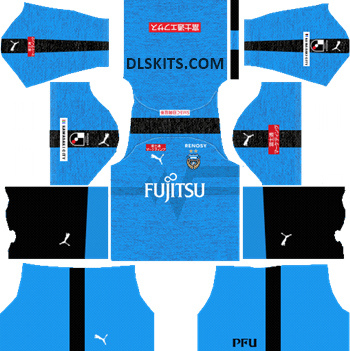 Kawasaki Frontale Home Kit 2019 - DLS Kits - Dream League Soccer Kits URL 512x512