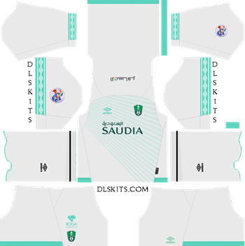AFC Al-Ahli Saudi FC Home Kit 2019 - DLS 19 Kits - Dream League Soccer Kits URL