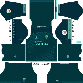 Al-Ahli Saudi FC Away Kit 2019 - DLS 19 Kits - Dream League Soccer Kits URL