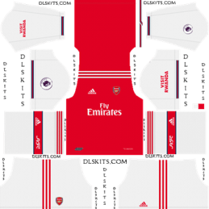 Dream League Soccer Kits Arsenal Home Kit 2019-20